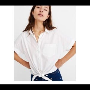Madewell Women's Tie-Front Shirt Size S